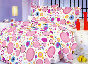 bubblegum pink polka dot bedding and comforter set