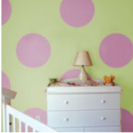 Polka dots dot baby nursery wall stencil pattern template