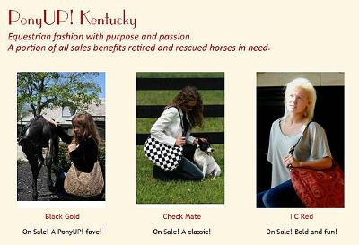 PonyUP Kentucky! has amazing purses and donates a portion of their profits to help retired and rescued horses.