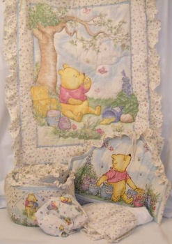 classic pastel winnie the pooh baby nursery crib bedding pictures