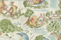 winnie the pooh toile fabric quilting quilt quilters