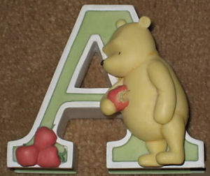 classic winnie the pooh letters wall resin bear alphabet