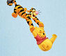 Winnie the Pooh and Tigger baby nursery room wall decal ideas