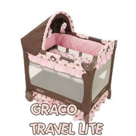 graco lite portable baby crib infant travel bed cot