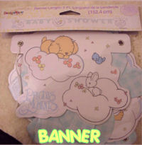 precious moments baby shower banner personalized decorations party supplies