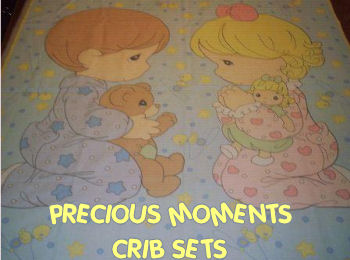 precious moments baby nursery bedding set crib boy and girl twins pictures
