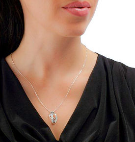 A sterling silver one baby pendant necklace is a lovely bed rest pregnancy gift idea