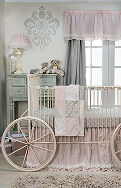 Princess baby nursery for a girl with a princess crib