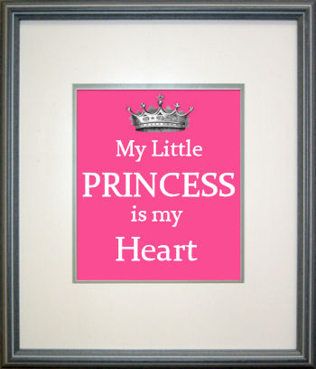 Custom baby girl princess nursery wall art saying designed by Jan Bay webmaster of Unique Baby Gear Ideas