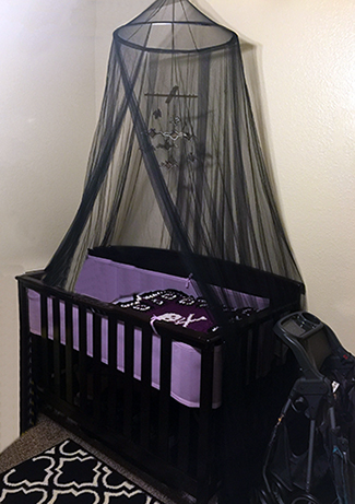 Custom made purple and black baby crib bedding set with bat baby mobile