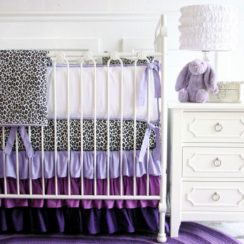 Purple baby girl nursery room décor with DIY crafts decorating ideas