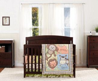 rainforest jungle monkey baby bedding set crib nursery pictures