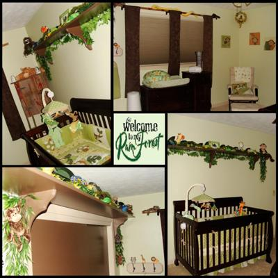 Rainforest Theme Baby Nursery
