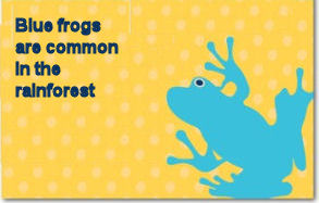 Baby blue rainforest frog theme baby shower invitation