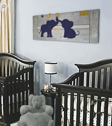 Unique Reclaimed Wood Wall Art For A Baby Nursery Room