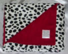red white and black polka dot chenille baby receiving blanket homemade pattern