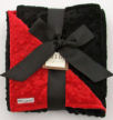 red minky dot chenille black baby receiving blanket homemade pattern