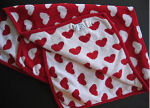 red white hearts valentines day chenille baby receiving blanket homemade pattern