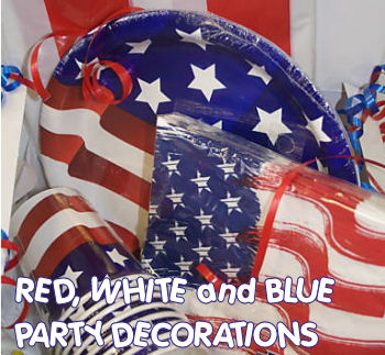 patriotic baby shower red white and blue party decorations decor decorating ideas