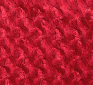 Soft red minky fabric to make a beautiful homemade baby blanket