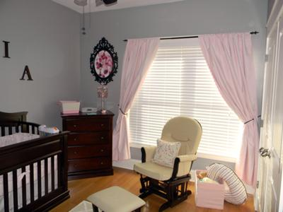 Baby Girl's Pink and Gray Nursery Valspar Signature
