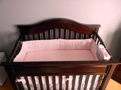 Pink European Cherry Blossom Restoration Hardware Baby Girl Crib Bedding Set