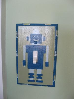 Inexpensive Robot Themed Switchplate from Etsy