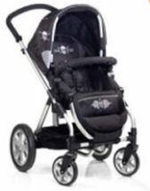 icoo infinity rock star pluto baby stroller skull gothic black