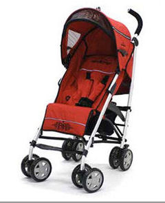 icoo infinity rock star pluto baby stroller skull gothic red