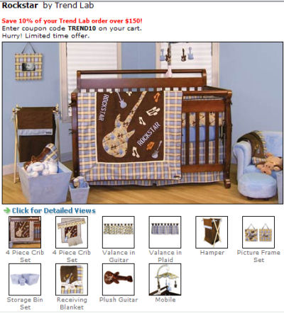 rockstar baby nursery pictures musical guitar rock and roll baby bedding set