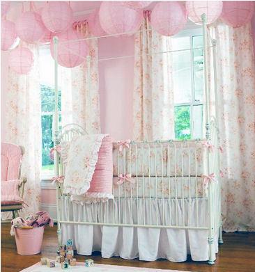 Vintage cream white and pink antique dusty rose shabby chic roses theme baby nursery decor crib bedding set