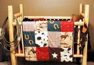 Homemade rustic log cabin baby crib instructions