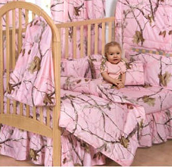 Pink camo baby nursery ideas for a hunting theme for a baby girl