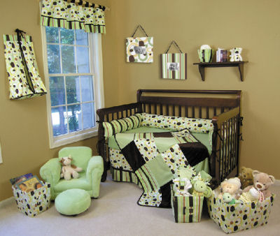 Green bedding sets for Baby blue and brown bedroom ideas