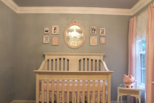 Sweet elegant nursery for a baby girl