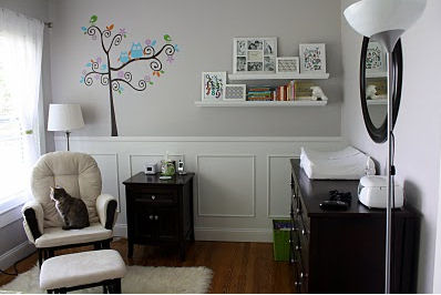 Serene gender neutral nursery design