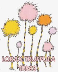 dr seuss lorax truffula trees wall stickers decals