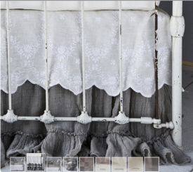 Shabby Elegant White Lace Ruffle Duvet Cover Bedding - bed ...