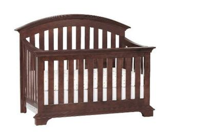 Simmons Kids Renaissance Baby Crib in Espresso Latte convertible to a toddler bed or day bed