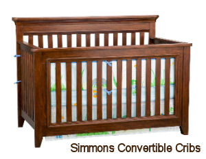Simmons convertible baby crib that converts from toddler bed to daybed to full size bed