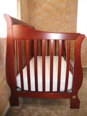 Simplicity Four in 1 Crib - Convertible Sleigh Baby Crib