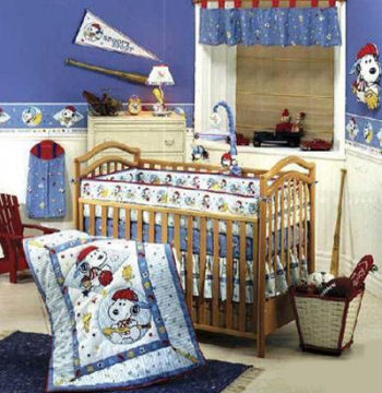 snoopy sport baby bedding set