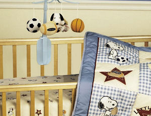 Peanuts Snoopy sports theme nursery ideas