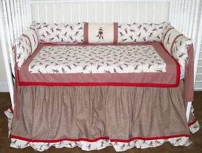 sock monkey crib mobile baby nursery bedding set custom quilt blanket