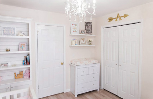 Blush pink and white southwestern baby girl nursery room decor ideas