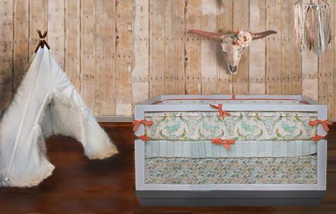 Cute Southwest Baby Nursery Decorating Ideas Desert Cactus Cow Skull Designs