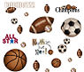 Sports theme baby nursery room wall decals