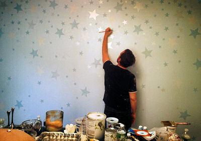 Painted metallic stars by Sam Simon