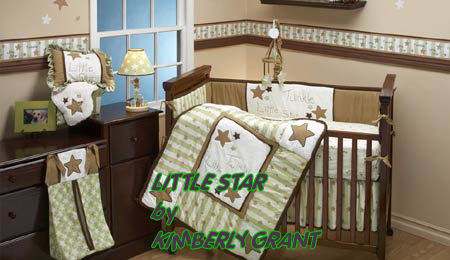 baby nursery theme bedding crib quilt sets moon stars themed