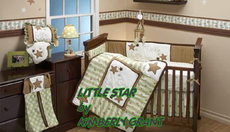 baby nursery theme bedding crib quilt sets moon stars themed